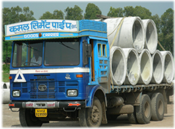 Pipe-loaded Truck